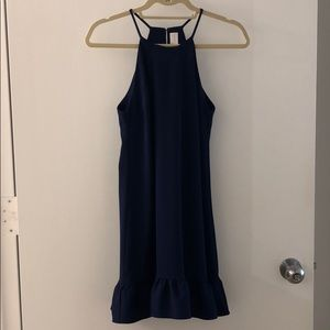 Amanda Uprichard Navy blue party dress